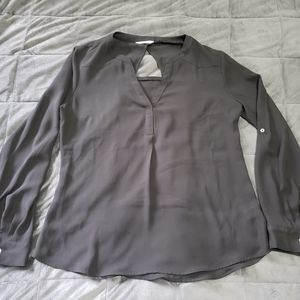 Candie's size large black silky top